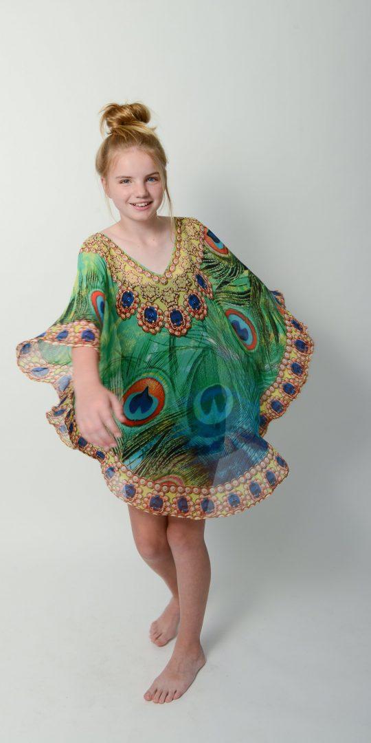Emerald Peacock Kids Kaftan * Limited Stock *