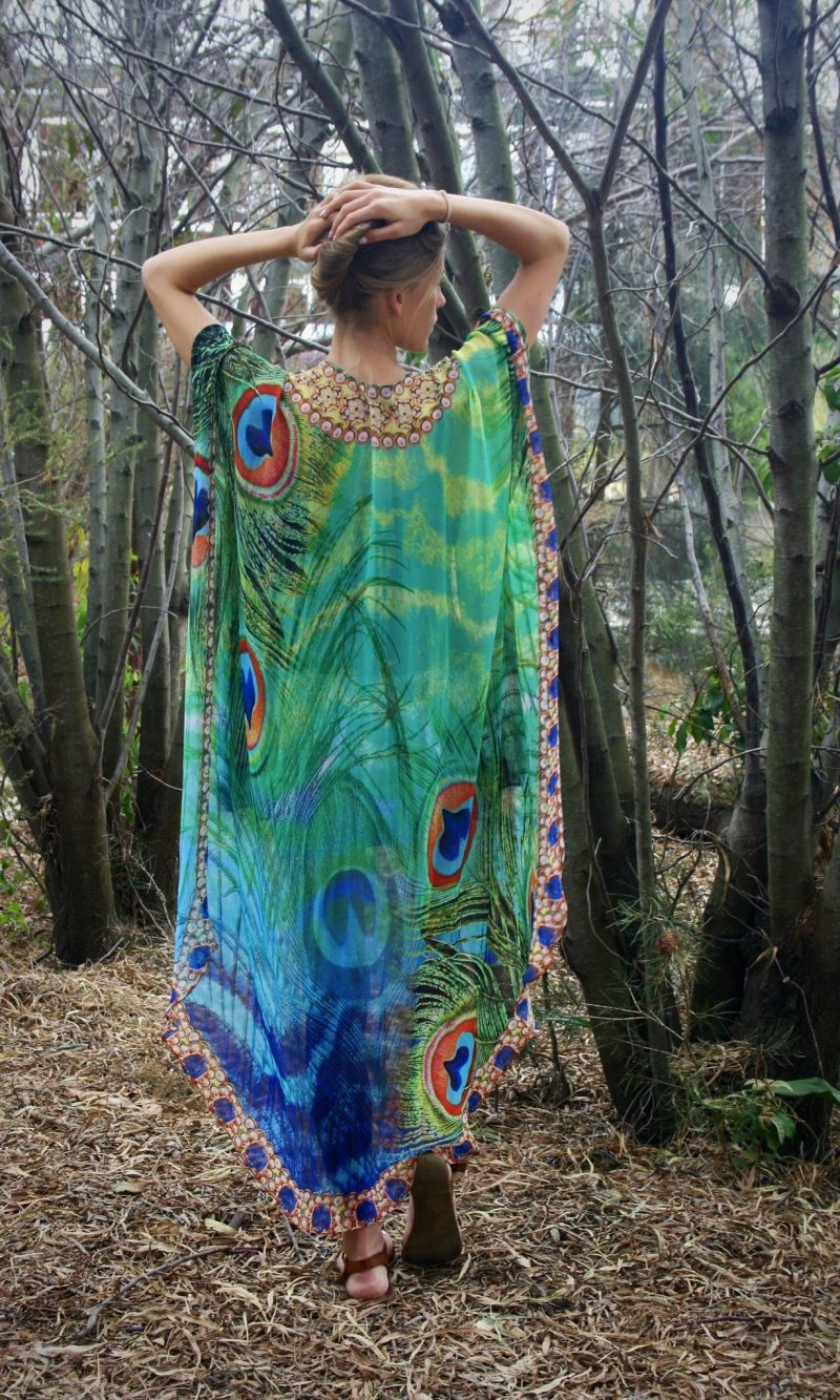 Emerald Peacock Cape