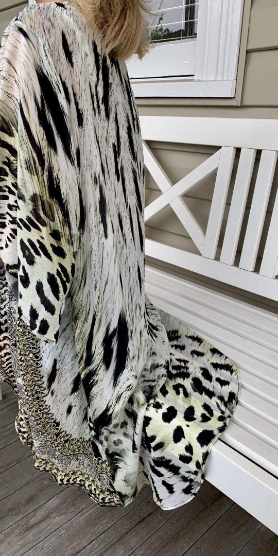 Snow Leopard Embellished Cape