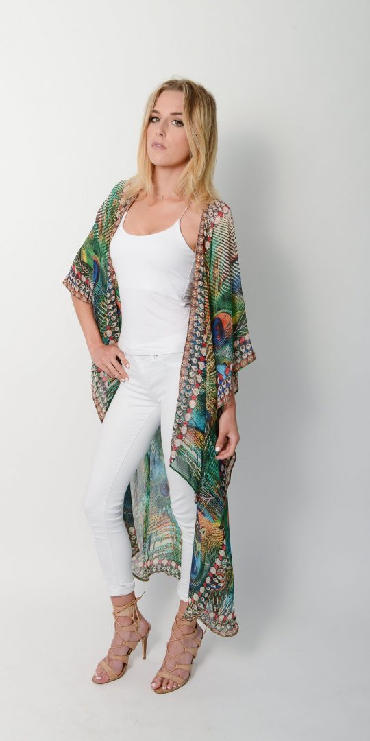 Exotic Peacock Cape * Limited Stock *