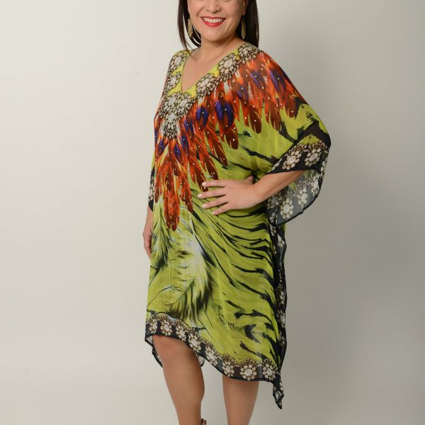 Green Feather Kaftan * Limited Stock *