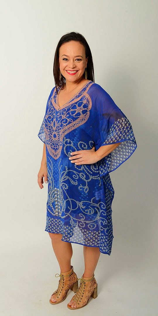 Tribal Blue Kaftan * Limited Stock *
